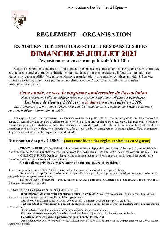 Reglement organisation journee juillet 2021 copie page1